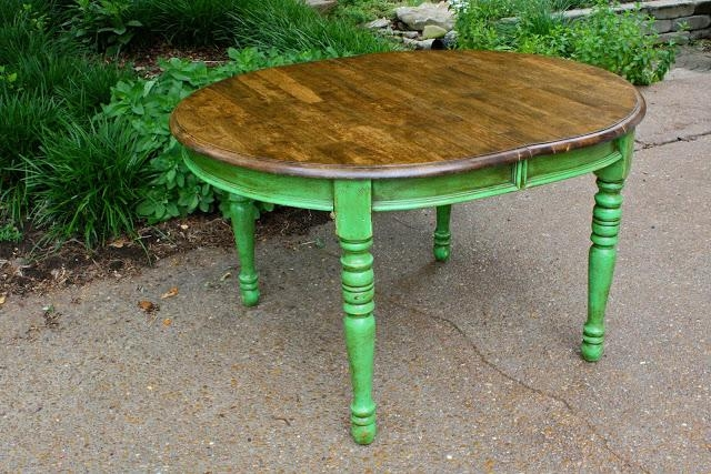 Colorful Painted Dining Table Inspiration With Regard To Green Dining Tables (Image 12 of 20)