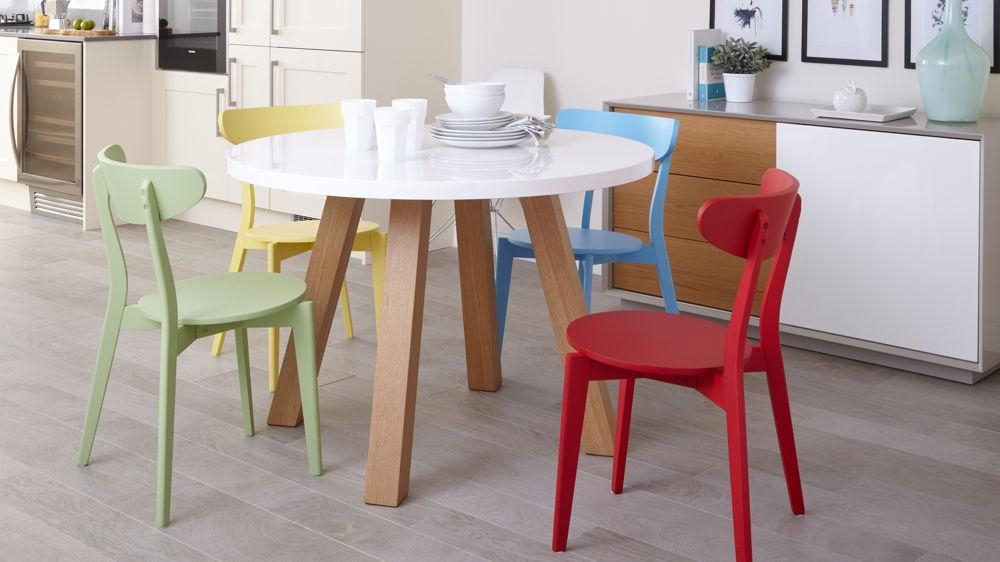 Colourful Kitchen Chairs | Bright Painted Wood Only £45 | Uk Inside Colourful Dining Tables And Chairs (Image 13 of 20)