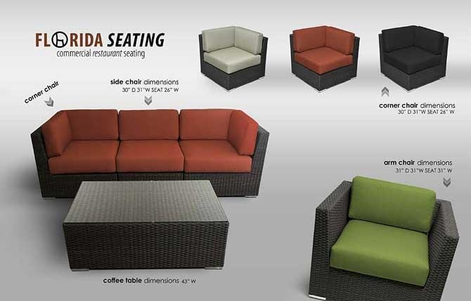 Commercial Hotel / Restaurant Seating – Outdoor Sofa Units Intended For Commercial Sofas (Image 7 of 20)