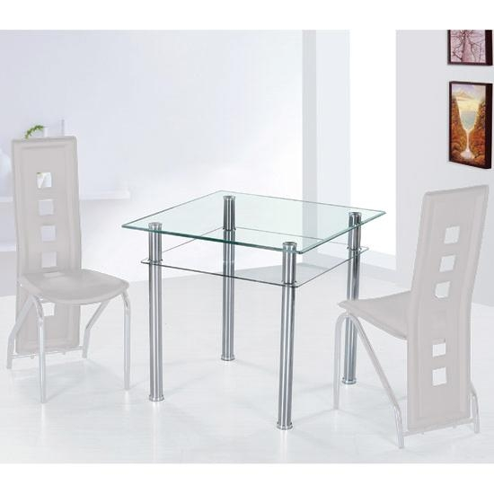 Como Clear Glass Dining Table Only 7115 Furniture In Within Como Dining Tables (Image 7 of 20)