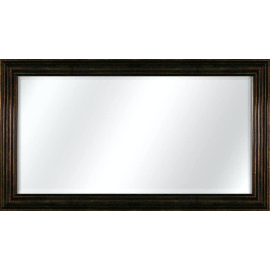Compacthorizontal Wall Mirror Modern Horizontal – Shopwiz Intended For Large Black Mirror (Image 7 of 20)