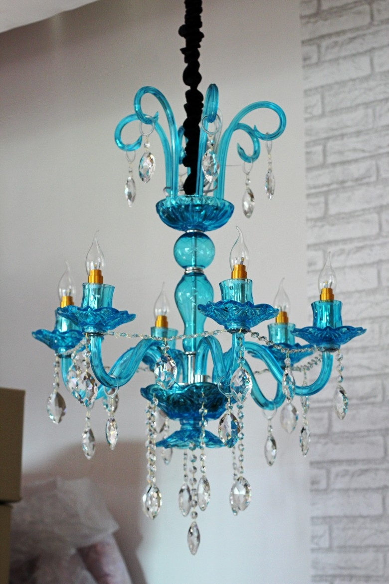 Compare Prices On Blue Glass Chandeliers Online Shoppingbuy Low In Turquoise Blue Glass Chandeliers (Image 12 of 25)