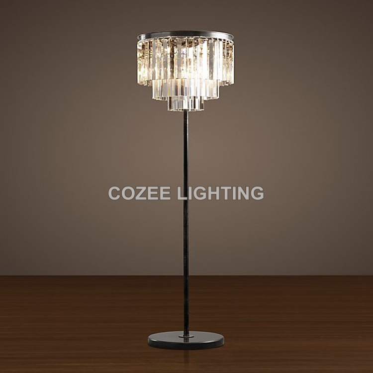 Compare Prices On Crystal Standing Floor Lamp Online Shoppingbuy For Crystal Chandelier Standing Lamps (Image 9 of 25)