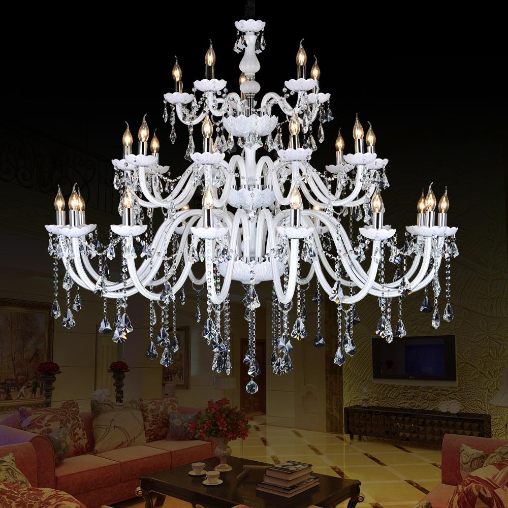 Compare Prices On White Crystal Chandeliers Online Shoppingbuy With Regard To White And Crystal Chandeliers (Image 13 of 25)