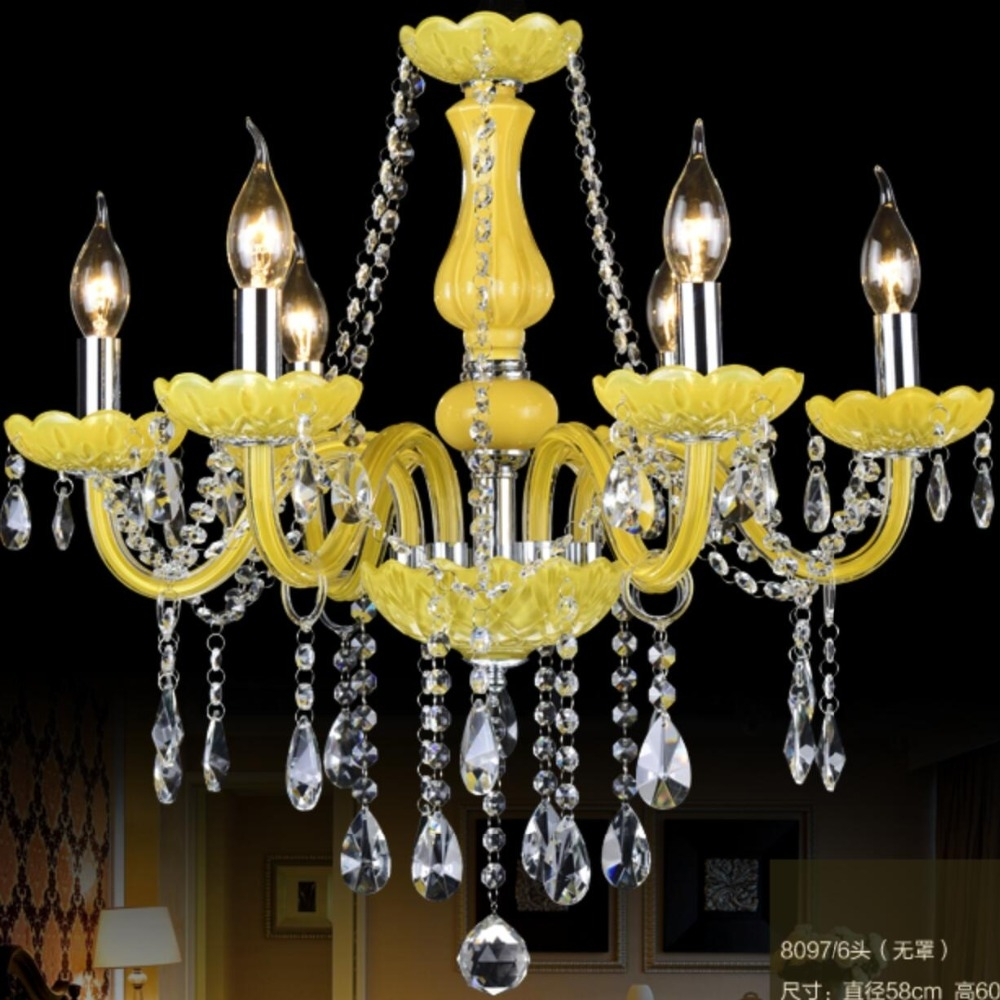 Compare Prices On Yellow Chandelier Light Online Shoppingbuy Low Inside Led Candle Chandeliers (View 19 of 25)