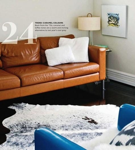 Considering: Caramel Leather – Design*sponge Intended For Carmel Leather Sofas (Image 12 of 20)