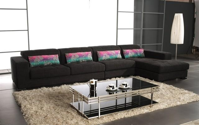 Considering Microfiber Sectional Sofa | Oaksenham With Regard To Black Microfiber Sectional Sofas (Image 9 of 20)