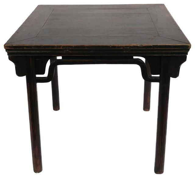 Consigned, Antique Beijing Square Dining Table – Asian – Dining For Asian Dining Tables (Image 15 of 20)