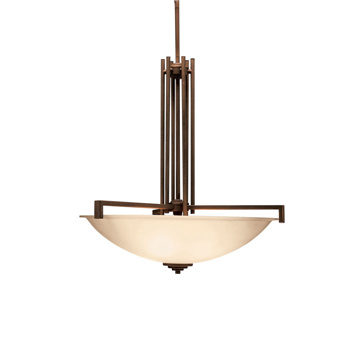 Contemporary 4 Light Inverted Pendant 3299ni Brushed Nickel In Inverted Pendant Chandeliers (Image 9 of 25)