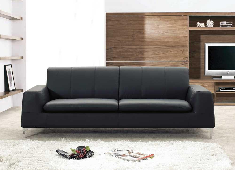 Contemporary Black Leather Sofa And Tips To Get The Right With Contemporary Black Leather Sofas (View 5 of 20)