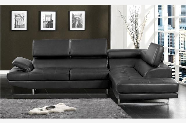 Contemporary Black Leather Sofa – Traditionalonly For Contemporary Black Leather Sofas (View 2 of 20)