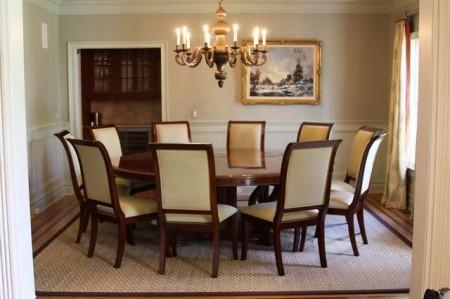 Contemporary Decoration Round Dining Room Tables Seats 8 Exclusive With Regard To Dining Tables Seats  (Image 11 of 20)