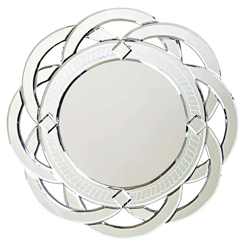 Contemporary Designer Mirror Round Twist Hre 008 | Accent Mirrors Intended For Designer Round Mirrors (Image 5 of 20)