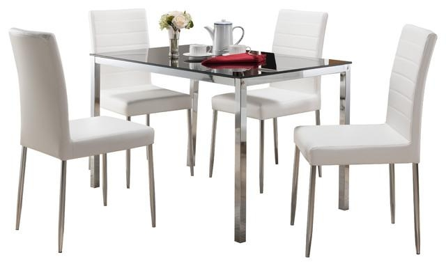 Contemporary Dining Room Sets | Houzz With Contemporary Dining Tables Sets (Image 4 of 20)