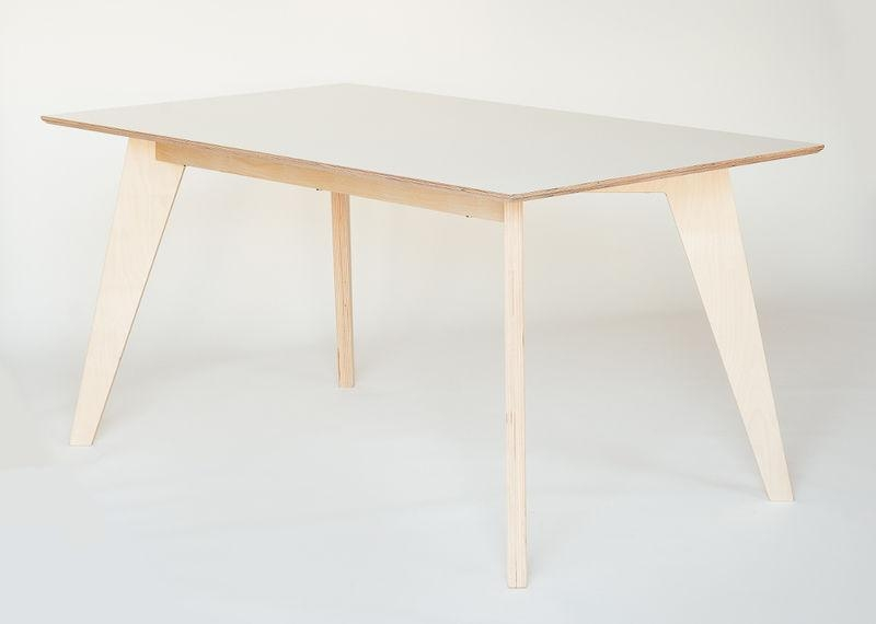 Contemporary Dining Table / Birch / Plywood / Oiled Wood – Huh With Birch Dining Tables (Image 3 of 20)