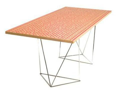 Contemporary Dining Table / Cork / Rectangular – Moorish Mosaic Intended For Cork Dining Tables (Image 7 of 20)