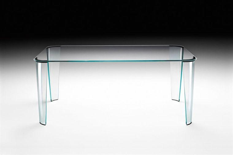 Contemporary Dining Table / Glass / Curved Glass / Rectangular Intended For Curved Glass Dining Tables (Image 6 of 20)