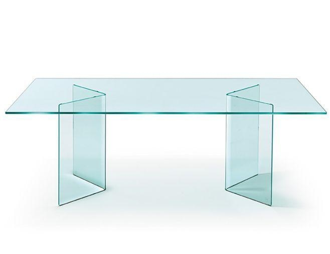 Contemporary Dining Table / Glass / Curved Glass / Rectangular Intended For Curved Glass Dining Tables (Image 5 of 20)