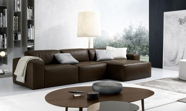 Contemporary Italian Sofasjesse | Decor Advisor Intended For Contemporary Brown Leather Sofas (Image 11 of 20)