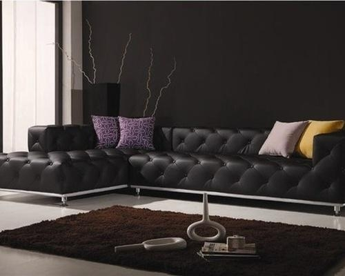 Contemporary Leather Sofa Stunning Inspiration Contemporary Within Contemporary Brown Leather Sofas (Image 13 of 20)