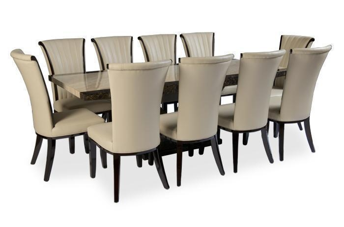 Contemporary Rustic 10 Chair Dining Table Sets — Home Decor Chairs In 10 Seat Dining Tables And Chairs (Image 11 of 20)