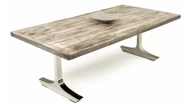 Contemporary Rustic Dining Tables, Modern Refined Dinette Pertaining To Contemporary Base Dining Tables (Image 5 of 20)
