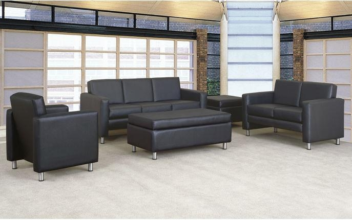 Contemporary Sofa / Leather / Commercial / 3 Seater – Tribute Within Commercial Sofas (Image 14 of 20)
