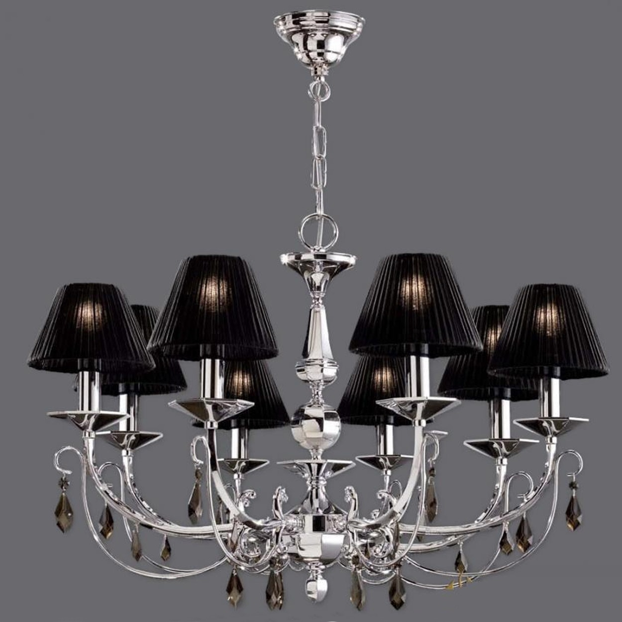 Contemporary Very Small Chandelier Shades Design Ideas With Regard To Chandeliers With Black Shades (Image 11 of 25)
