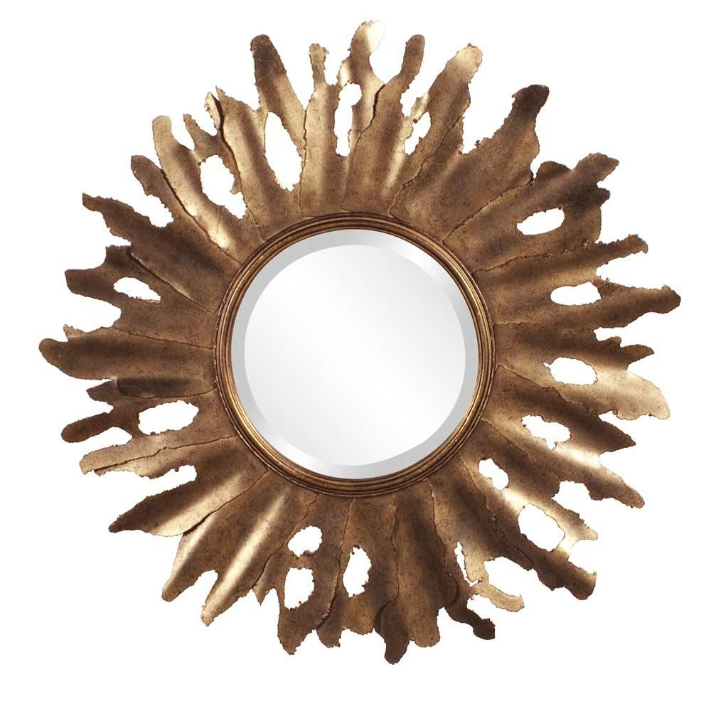 Contemporary Wall Designer Mirror Hre 169 | Accent Mirrors Pertaining To Bronze Starburst Mirror (Image 3 of 21)