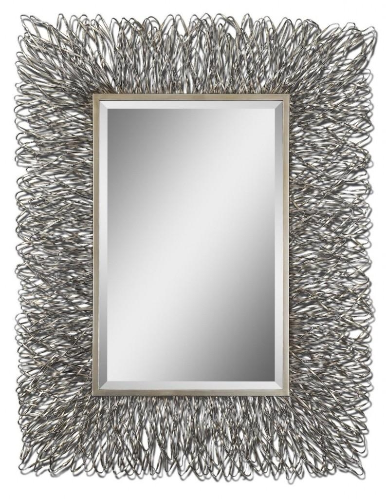 Contemporary Wall Mirrors Decorative Amazing : Create Contemporary With Modern Silver Mirror (Image 3 of 20)
