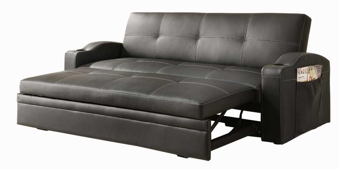Convertible Sofa Ikea – Home Design Ideas And Pictures Within Black Leather Convertible Sofas (Image 8 of 20)