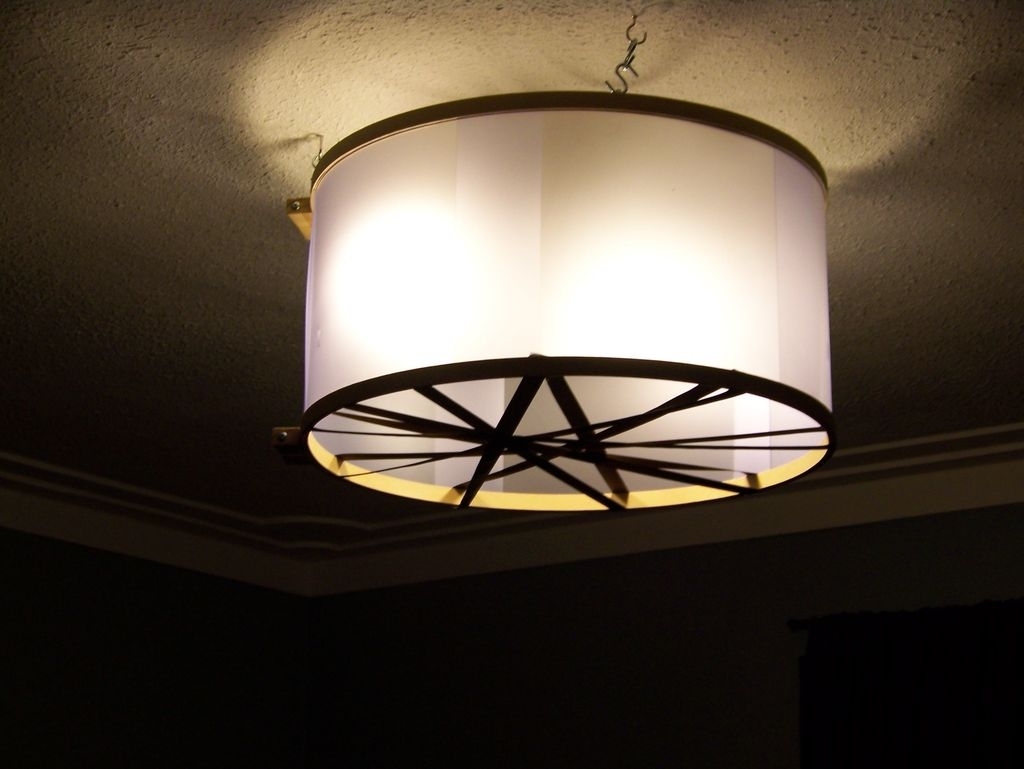 Cool And Modern Extra Large Drum Lamp Shade Home Decorations Inside Drum Lamp Shades For Chandeliers (View 4 of 25)