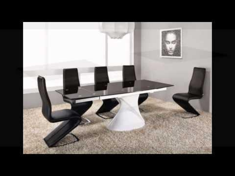 Cool Black Glass Extending Dining Table Extending Glass Dining Regarding Extending Glass Dining Tables And 8 Chairs (Image 7 of 20)