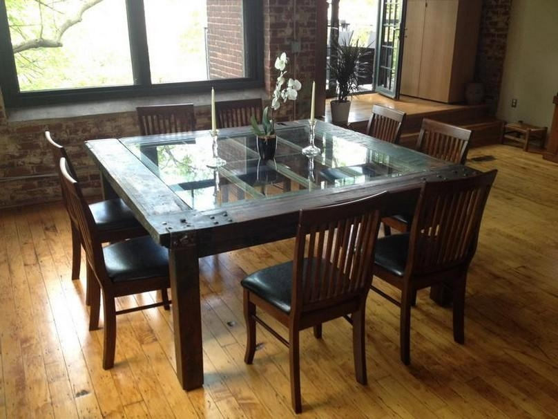 Cool Dining Room Table Enchanting Of Dining Room Unique Wooden For Wooden Glass Dining Tables (Image 5 of 20)