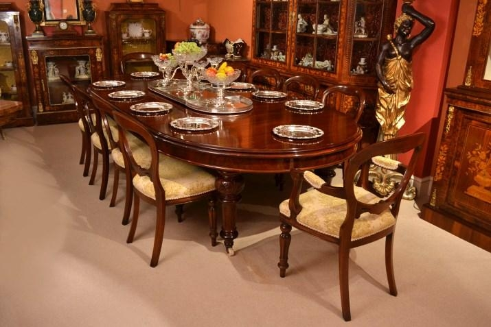 Cool Victorian Dining Table And Chairs 04952C Antique 10Ft Within Dining Table And 10 Chairs (View 17 of 20)