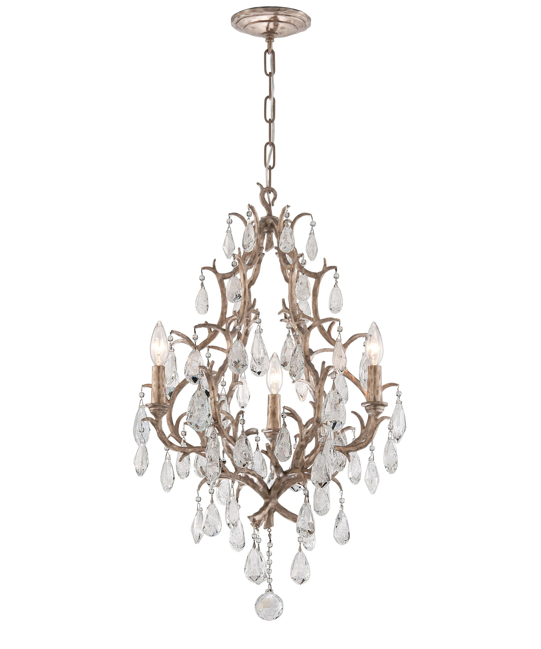 Corbett Lighting 163 03 Amadeus 20 Inch Wide 3 Light Mini Within 3 Light Crystal Chandeliers (Image 5 of 25)