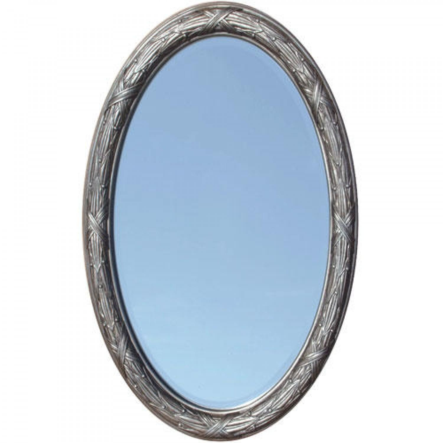 Corinthian Decorative Beveled Oval Mirror – Venetian Bronze – Bathroom With Regard To Venetian Oval Mirror (Image 8 of 20)