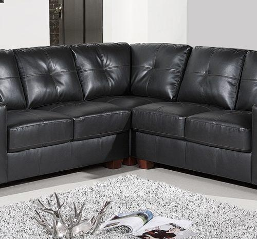 Corner Sofas | Leather Corner Sofas, Fabric Corner Sofas | Sofa Throughout Black Leather Corner Sofas (Image 8 of 20)