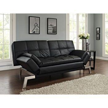 Costco: Daytona Bonded Leather Euro Lounger – Black | For The Home Inside Euro Lounger Sofa Beds (Image 9 of 20)