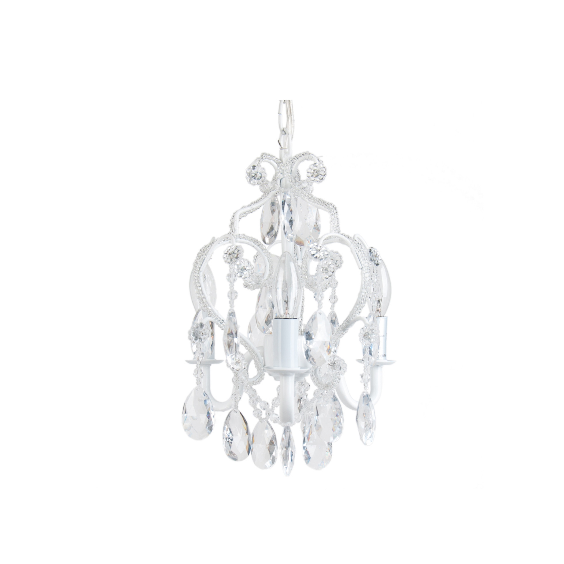 Cosy Tadpole Chandeliers In Small Chandelier Decoration Ideas With With Regard To Small White Chandeliers (Image 13 of 25)