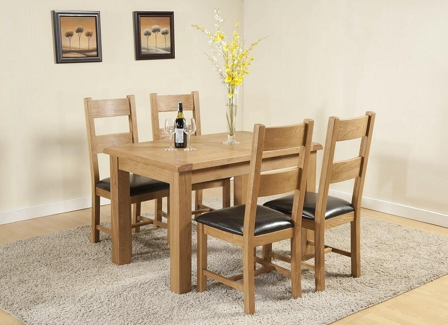 Cotswold Rustic Light Oak Small Extending Dining Table | Oak With Regard To Cotswold Dining Tables (Image 14 of 20)