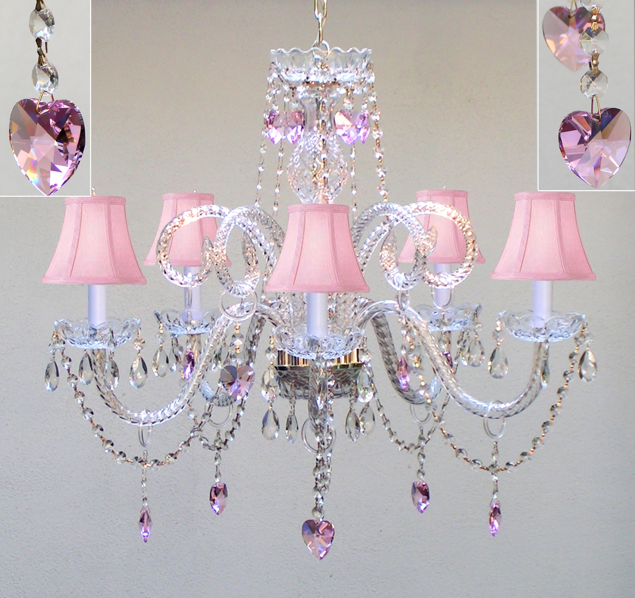 Country French Chandelier Chandeliers Crystal Chandelier Crystal Regarding White And Crystal Chandeliers (Image 14 of 25)