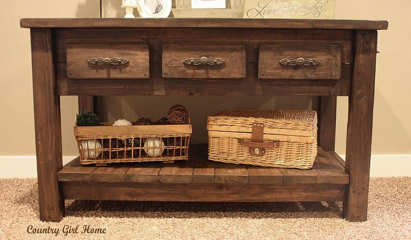 Country Girl Home : Sofa Table Add On. (Image 5 of 20)