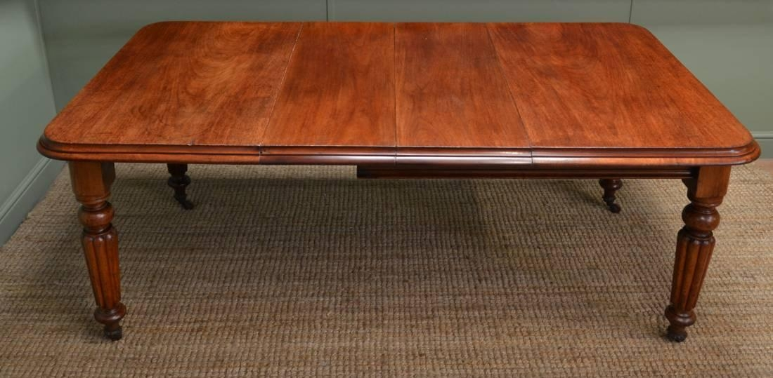 Country Mahogany Extending Wind Out Antique Dining Table In Mahogany Extending Dining Tables (Image 7 of 20)
