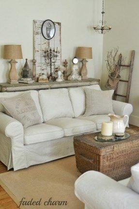 Country Style Slipcovers – Foter With Slipcover Style Sofas (View 18 of 20)
