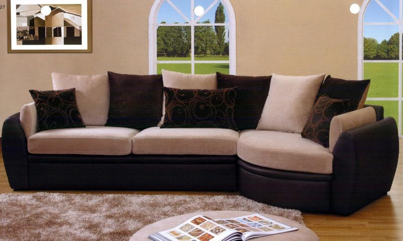 Cozy Living Rooms With Awesome Pottery Barn Sectional Sofas With Regard To Black Microfiber Sectional Sofas (Image 10 of 20)