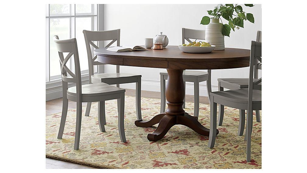 Crate And Barrel Round Dining Table.  (Image 12 of 20)