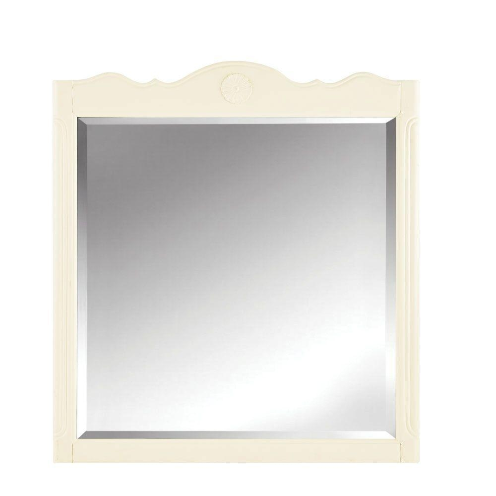 Cream – Bathroom Mirrors – Bath – The Home Depot Intended For Cream Mirrors (Image 8 of 20)