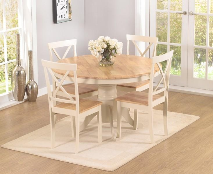 Cream Dining Room Sets With Goodly Marlow Oak Cream Dining Table In Cream And Wood Dining Tables (View 5 of 20)