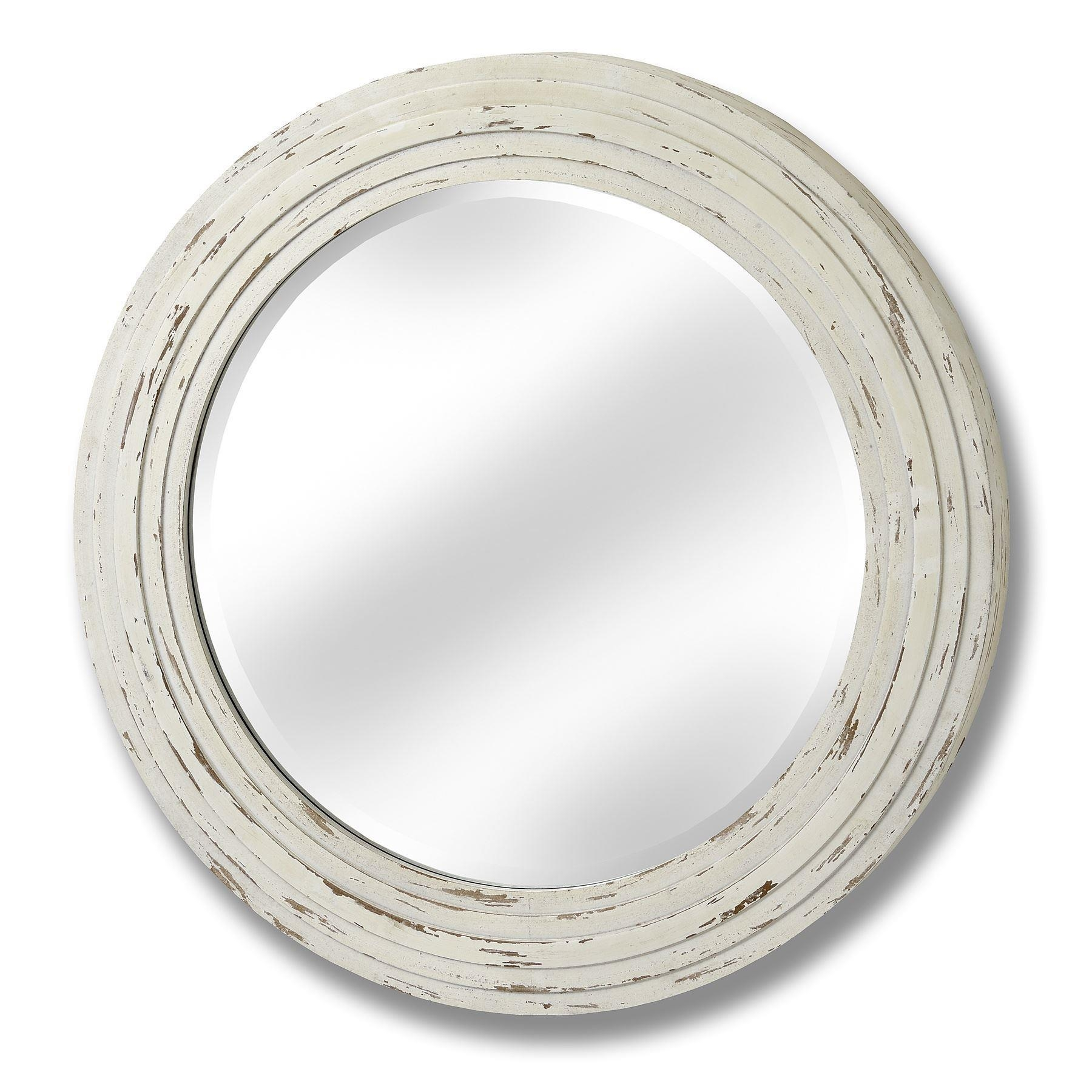 Cream Round Mirror (60Cm) With Regard To Antique Cream Mirror (Image 12 of 20)